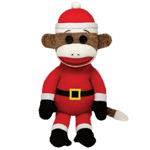 Ty Beanie Babies Sock Monkey - -