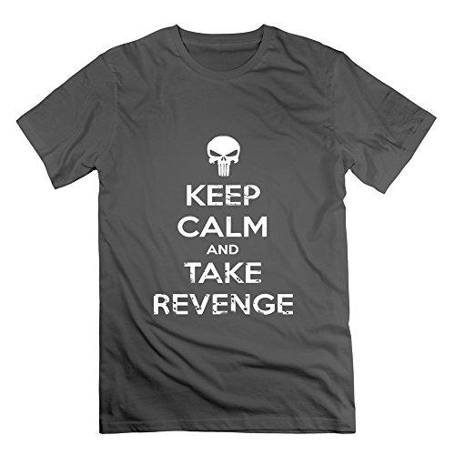 - LianJian Punisher Keep Calm And Take Revenge Men's T-Shirt DeepHeather Mens