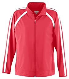 Augusta Sportswear Girls\' POLY/SPANDEX JACKET M Red/White