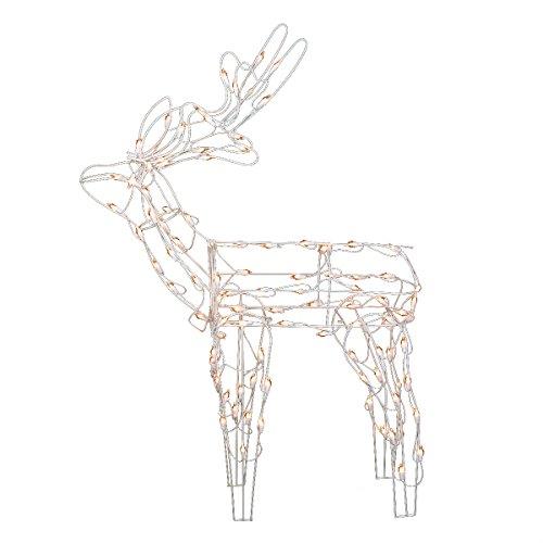 "Northlight Seasonal White Standing Reindeer Lighted Christmas Yard Art Decoration, 46"" from Northlight Seasonal"