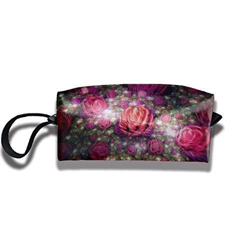 (Coin Pouch Roses Buds Pen Holder Clutch Wristlet Wallets Purse Portable Storage Case Cosmetic Bags Zipper)