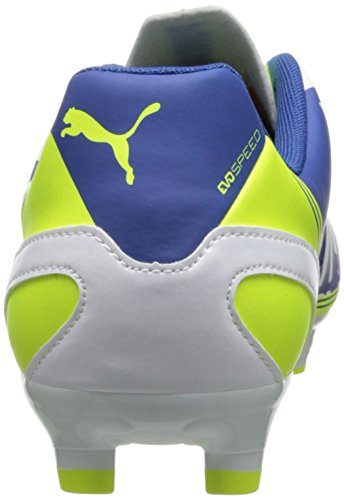 Puma Evo-Speed â??â??5.3 Firm Ground FuÃ?ballschuh White/Snorkel Blue/Fluorescent Yellow