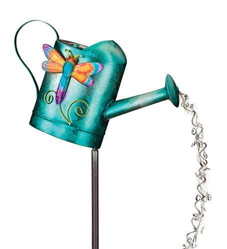 Regal Art & Gift Solar Watering Can Stake Dragonfly