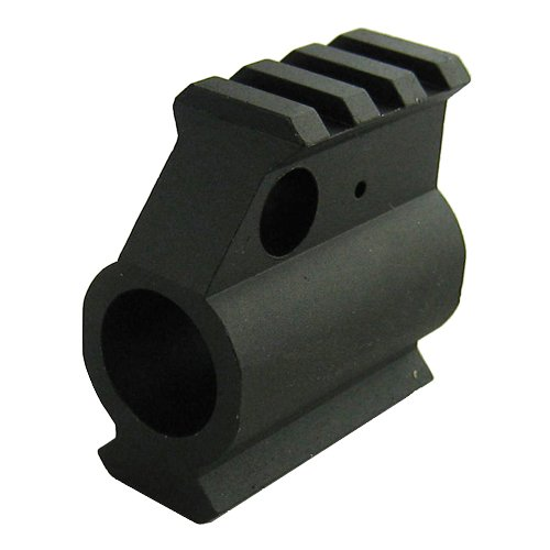 AR-15 .750 5.56/.223 Regular Profile Gas Block Top and Bottom Picatinny Rail, Outdoor Stuffs