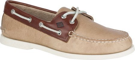 Sperry Men's A/O 2-Eye Cross Lace Cement/Brown (Sperry Lace Oxfords)