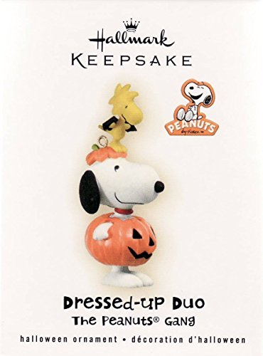 Hallmark 2009 Dressed-Up Duo Snoopy Peanuts Woodstock Halloween