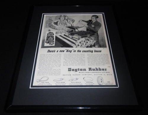 Dayton Rubber - 1951 Dayton Rubber Framed 11x14 ORIGINAL Vintage Advertisement