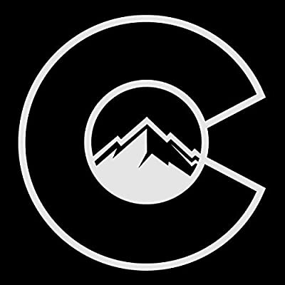 Colorado Flag C With Mountains Decal Vinyl Sticker|Cars Trucks Vans Walls Laptop| White |5.5 x 5.25 in|CCI1251
