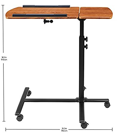 Cherry Ameriwood Home Jacob Laptop Cart