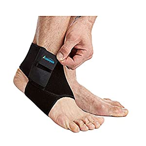Ankle Support Brace for Running Basketball - Neoprene Breathable Adjustable Ankle Socks for Women and Men Black by ASOONYUM