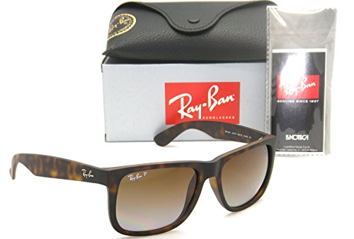Authentic Ray-Ban Justin RB 4165 865/T5 55mm Rubber Havana / Brown Gradient - Ban Justin Gradient Ray