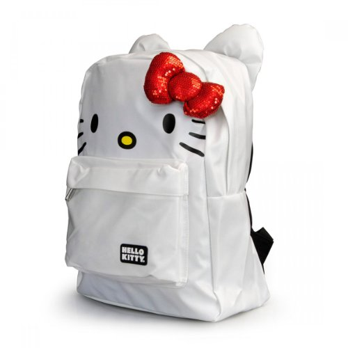 Amazon.com  Hello Kitty Backpack Bag w  Bow   Ears (Face - White   Red)   Beauty ef673102faef1