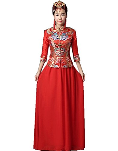 Shanghai Story Chinese Traditional Clothing Spring Cheongsam Top + Skirt 6 from Shanghai Story