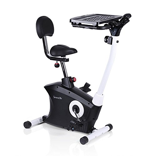 Bicycle Track Stand - SereneLife Exercise Bike - Upright Stationary Bicycle Pedal Cycling Trainer Fitness Machine Equipment with Laptop Tray for Workout, Weight Loss, Fitness & Health at Home & Office (SLXB9)