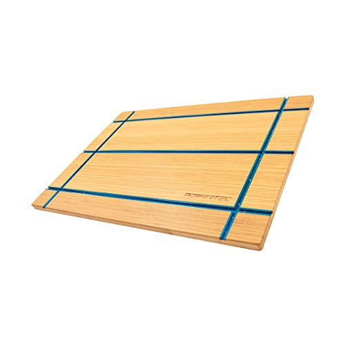 - POWERTEC 71361 T-Track Table Top | Wooden T-Track Accessories for Woodworking - Premium Bamboo Workbench Top Edition