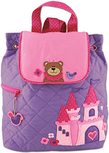 Stephen Joseph Quilted Backpack, Princess/Bear -