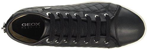 Geox D Amaranth B Abx A, Sneakers Hautes Femme Noir (C9999)