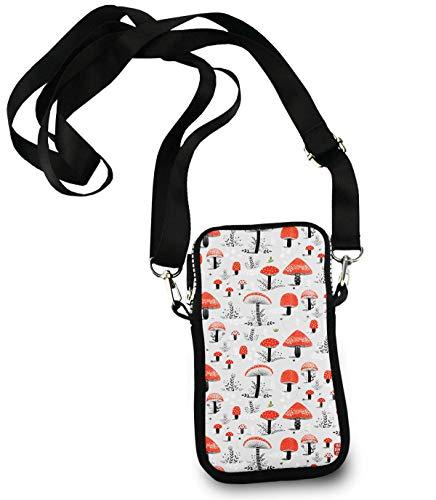 Unisex Small Crossbody Bag Cell Phone Purse Wallet Headphone Bag Cartoon ()