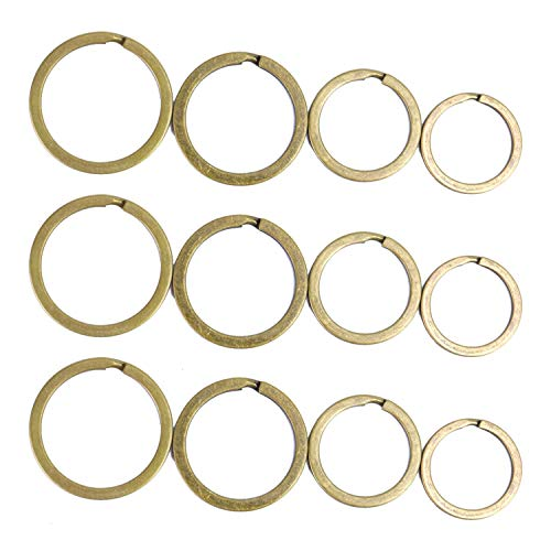 Monrocco 100 Pieces Antiqued Brass Plated Split Key Ring for Car Home Keys Organization/Arts & Crafts