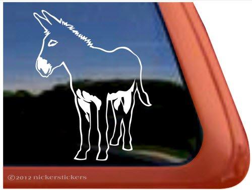 Donkey Horse Trailer Vinyl Window Decal - Sticker Donkey