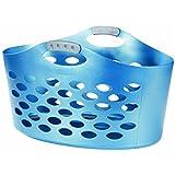 Rubbermaid FG260100ROYBL 1.9-Bushel Flex 'N Carry Laundry Basket, Royal Blue