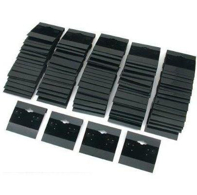 100 New Black Flocked Earring Hang Cards - 2 Inch x 2 (Deep Sea Diver Costumes)