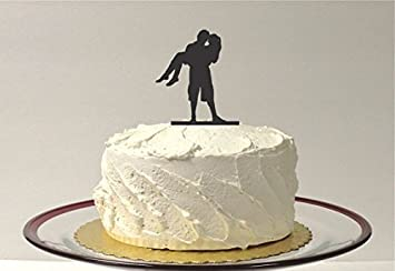 BEACH THEMED Wedding Cake Topper Bride And Groom In Beach Attire Silhouette