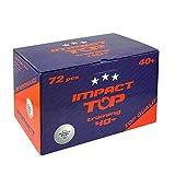 Impact TOP Training Table Tennis Balls (Box of 72 White)