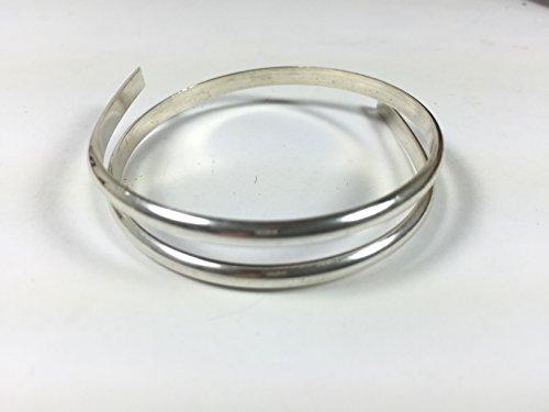 - 6 gauge half Round sterling silver wire 1 ft., 4.11 mm x 2.06 mm size