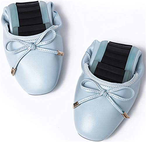 ladies shoes soft work put White pocket into pregnant comfortable Foldable shoes FLYRCX shoes shoes flat shoes your ballet shoes women handbag qYa4WSwx