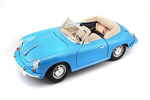 1961 Porsche 356B Cabriolet 1/18 Infantil Burago Azul