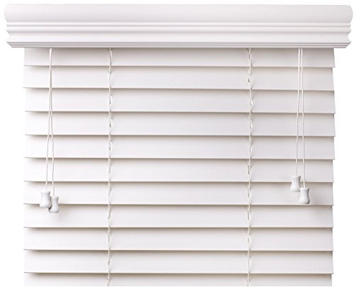spotblinds Custom Cut to Size 2″ Premium Faux Wood Blinds from 24″ Wide to 78″ Long Color: Snow White Smooth (30″ W x 72″ L)