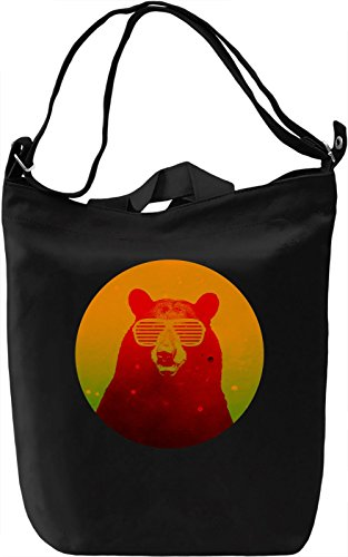 Swag Bear Borsa Giornaliera Canvas Canvas Day Bag| 100% Premium Cotton Canvas| DTG Printing|