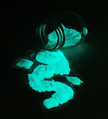 Aqua Powder (Aqua Glow-in-the-Dark Powder 75 gram ~ Pigment)
