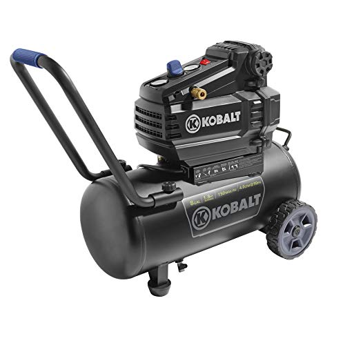 Kobalt 0300841 8-Gallon Portable Electric Horizontal Air Compressor (8 Gallon Electric Air Compressor)
