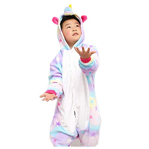 Kids Pajamas Animal One Piece Sleepwear Halloween Costume Children Cosplay(purple-95-for Height (102-110cm))