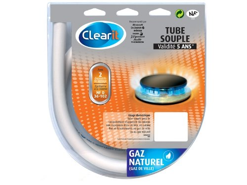 Clearit 75S2697 Tuyau Gaz Naturel 1,5 m NFD36-102