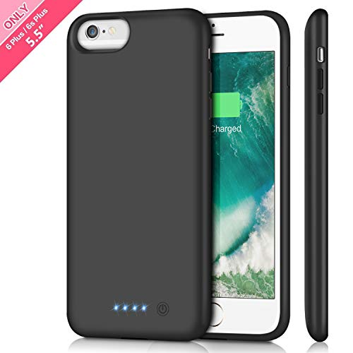 Battery Case for iPhone 6s Plus/ 6 Plus Upgraded 8500mAh Portable Rechargeable Charger Case for iPhone 6 Plus Extended Battery Pack for iPhone 6s Plus Protective Charging Case [ 5.5 inch ]-Black