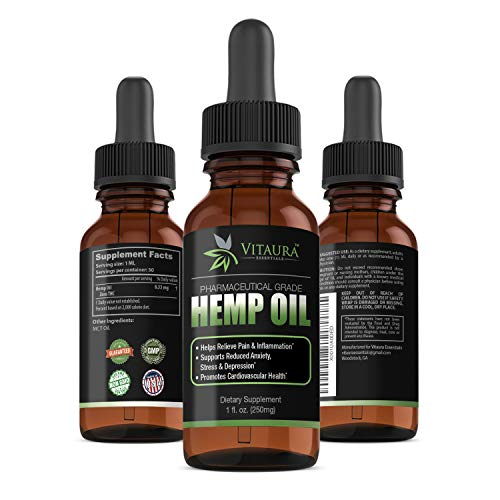 Pharmaceutical Grade Zero THC Hemp Oil 250mg & MCT. Stress & Pain Relief Formula. Reduces Anxiety and Balances Mood. Promotes Restful Sleep, Optimal Cardiovascular & Blood Sugar Health & So Much More!