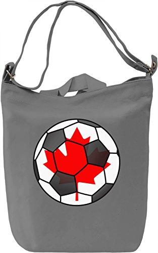 Canada Football Borsa Giornaliera Canvas Canvas Day Bag| 100% Premium Cotton Canvas| DTG Printing|
