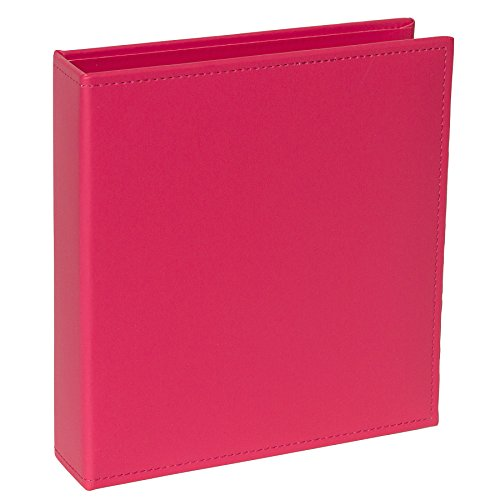 - Project Life Faux Leather Album, 6 by 8-Inch, Dark Pink