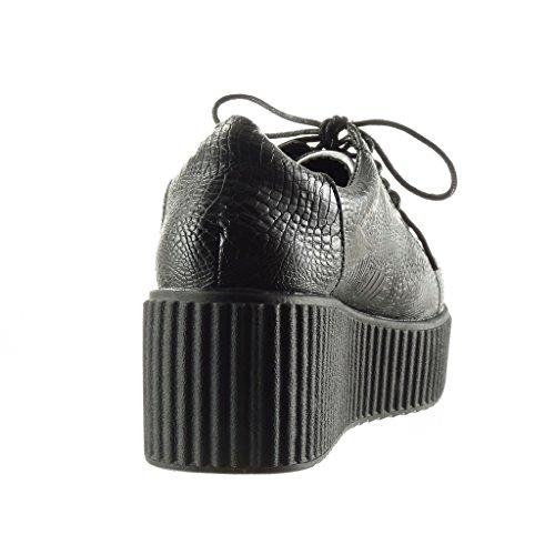 Serpent Peau Plateforme cm Croco Plateforme Femme 6 de Baskets Angkorly Talon Compensé Mode Chaussure aB0q6Rg