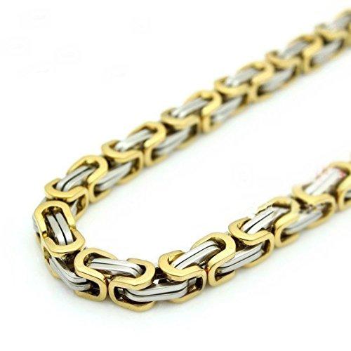 DELIFUR Titanium Stainless Byzantine Necklace