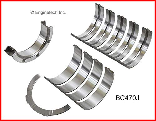 Enginetech BC470J.25 Main Bearings Ford 4.6L 281 VIN W ROMEO ENGINE W/CAST Iron Block