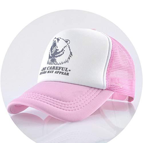 通気性のある グリッド スポーツ帽子 夏キャップ 男の子 キャップ,ピンク