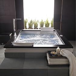 Jacuzzi FUZ7260WCD4CHA Fuzion 7260 Dual Zone Whirlpool Bath, Almond