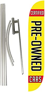 LookOurWay Auto Sales Themed 12-Feet Tall Feather Flag Complete Set with Poles /& Ground Spike
