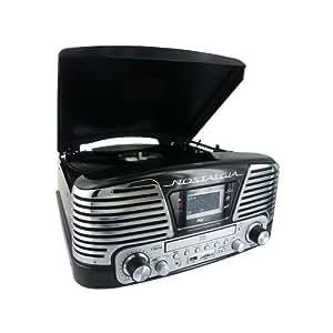 BigBen TD79NM - Tocadiscos (pantalla LCD, 230 V, 50 Hz, USB, 3.5 mm, MP3, AM/FM, tarjeta SD/MMC), color negro