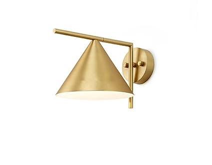 Moderne Led Wandleuchten Schlichtes Design Kupfer Kunst Wandlampen