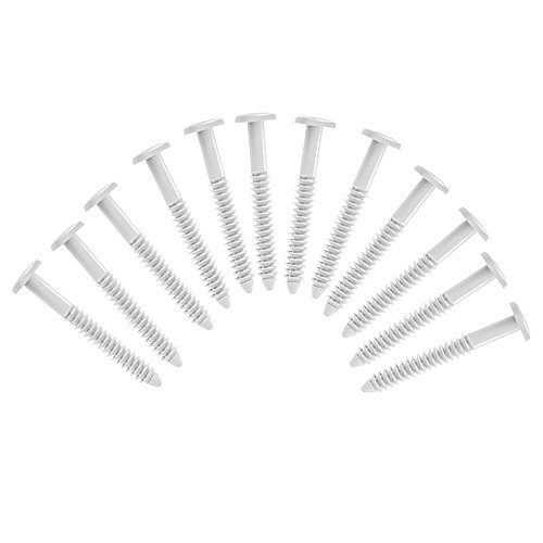 (White) Pack of 12 Vinyl Shutter Fastener Spike